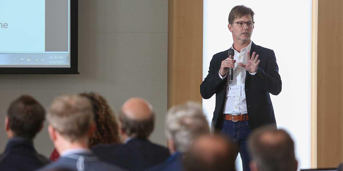 William Cresko speaking at the UO-OHSU Research Collaboration Summit