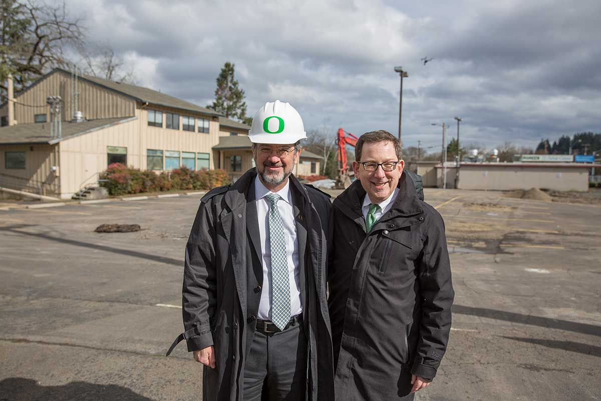 patrick phillips and president schill at kc groundbreaking