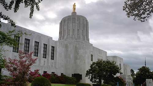 The Oregon Capitol building
