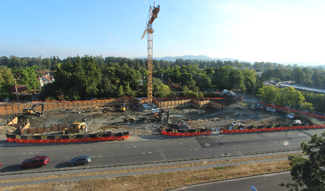 Knight Campus Construction site from web cam
